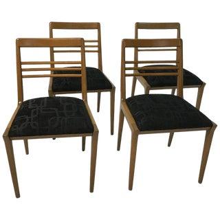 Mid-Century Modern Kipp Stewart for Drexel Walnut Dining Chairs- 4 Pieces For Sale