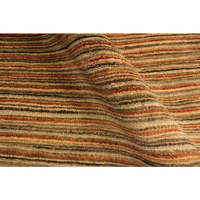 Boho Chic Gabbeh Peshawar Nereida Tan/Rust Hand-Knotted Wool Rug -3'1 X 5'1 For Sale - Image 4 of 8
