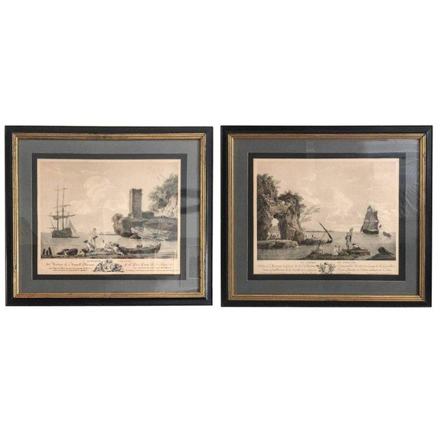 Antique French Nautical Engravings - a Pair For Sale - Image 12 of 12