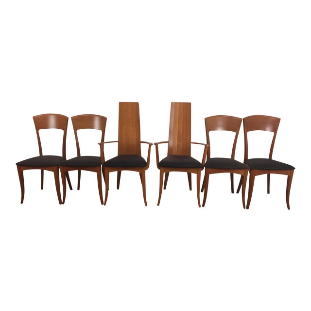 A. Sibau Italian Mid-Century Modern Dining Chairs- Set of 6 For Sale