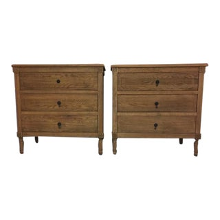 Restoration Hardware Louis XVI Closed Nightstands-a Pair For Sale