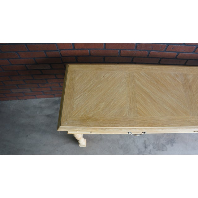 Cottage 20th Century Cottage Farmhouse Console Table For Sale - Image 3 of 9