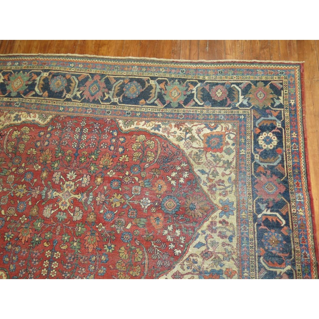 Shabby Chic Persian Sultanabad Rug 9'3'' X 12'6'' For Sale In New York - Image 6 of 9