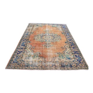 """Oushak Turkish Floor Faded Wool Rug - 6'4"""" x 8'8"""""""