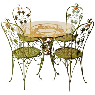 Polychrome Tole Patio Set - Set of 5