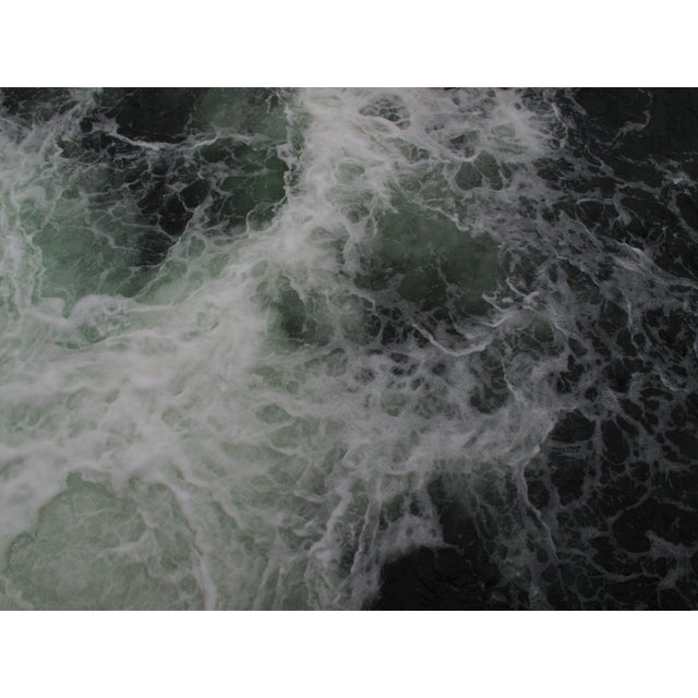 Contemporary Abstract Photographic White Water Color Print For Sale