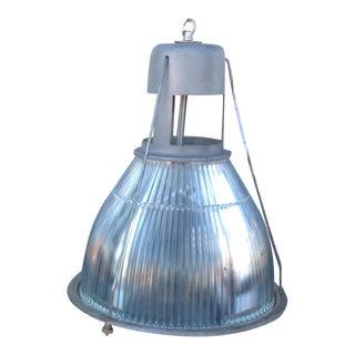 1940s Vintage Cage Industrial Holophane Pendant Ceiling Light For Sale