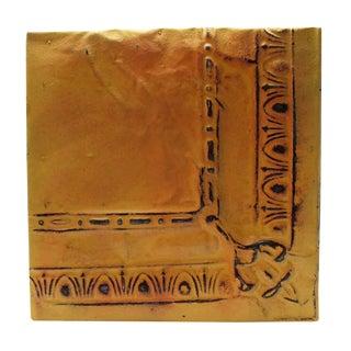 Antique Yellow Corner Tin Panel For Sale