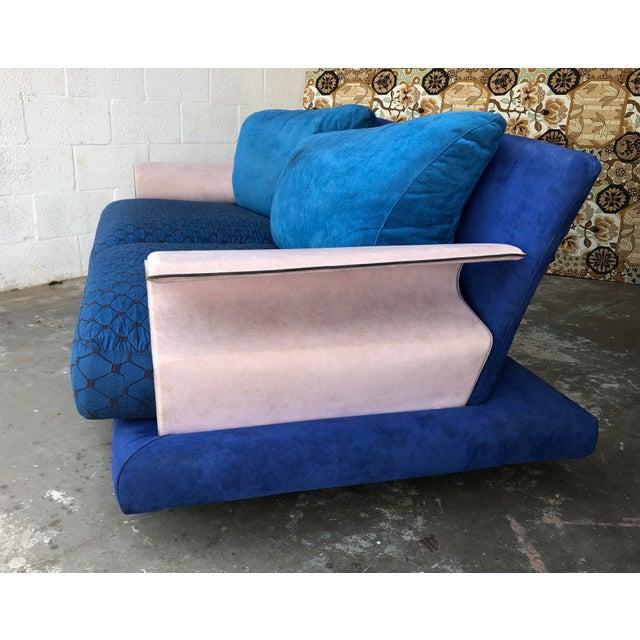 1980s Post Modern Giorgio Saporiti Memphis Style Sofa For Sale - Image 5 of 13