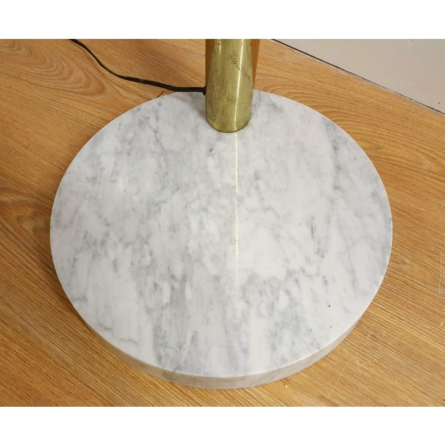 Mid Century Brass Standing 5 Arm Arc Lamp With Marble Base - Image 7 of 7