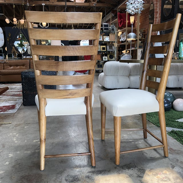 Gio Ponti Gio Ponti Ladderback Chairs, Italy, 1940s - a Pair For Sale - Image 4 of 13