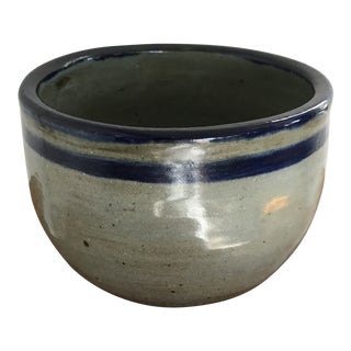 Late 20th Century Vintage Glazed Stoneware Pottery Pot For Sale