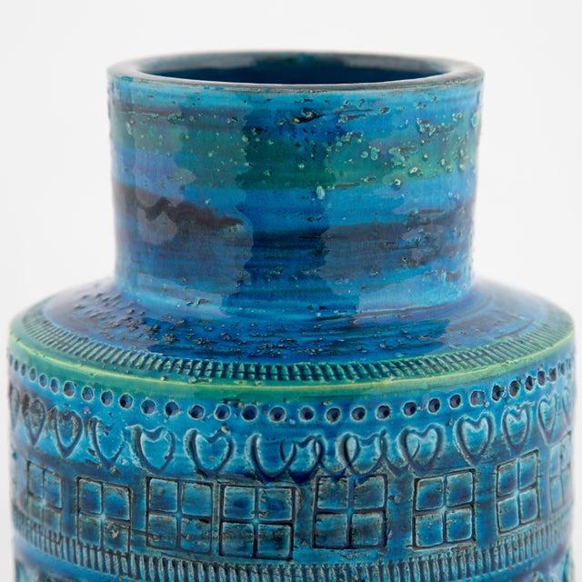 """1960s """"Rimini Blu"""" Ceramic Vase by Aldo Londi for Bitossi, Circa 1960s For Sale - Image 5 of 10"""