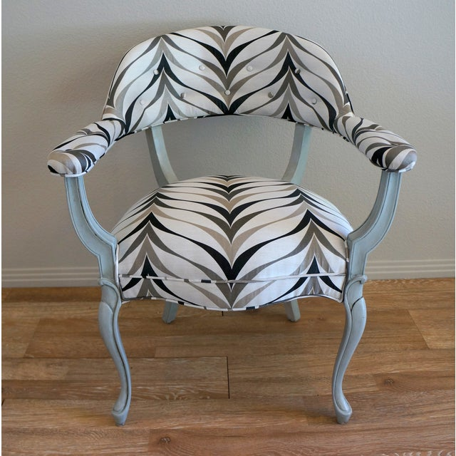 Vintage Art Deco Style Arm Chairs - Pair - Image 6 of 8