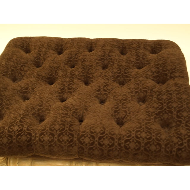 French Country Provincial-Style French Ottoman For Sale - Image 3 of 4