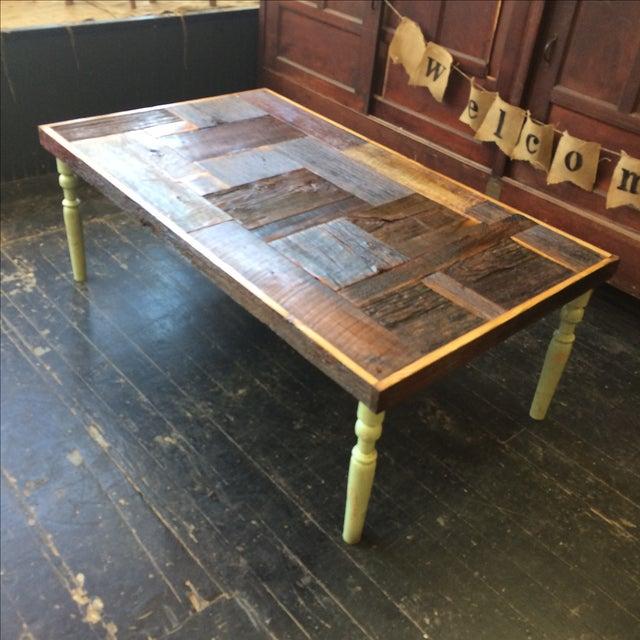 Rustic Handmade Coffee Table - Image 4 of 5