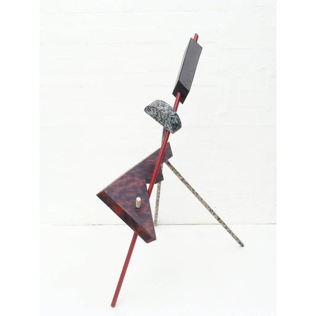 Memphis Acrylic Painted Steel Sculpture For Sale - Image 4 of 10