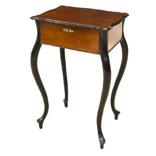 Biedermeier Period Rococo Revival Work Table For Sale