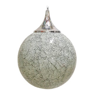 Crackled White Glass Pendants by Fabio Ltd For Sale