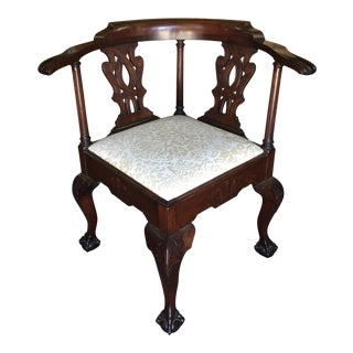 Classic Chippendale Corner Chair For Sale