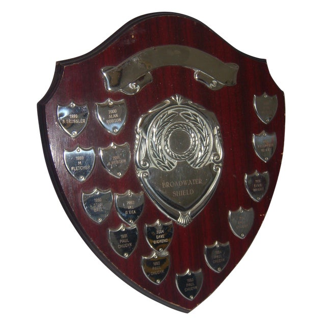 English Sports Trophy Plaque, Broadwater Sheild - Image 1 of 6
