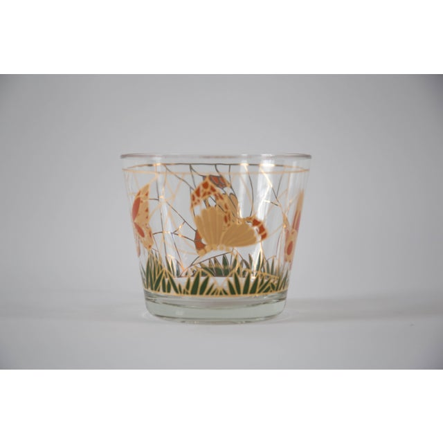 Culver Glass Butterfly Ice Bucket - Image 3 of 5