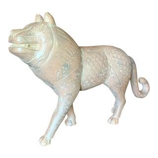 Large Stone Primitive Lion, Vintage Museum Replica For Sale
