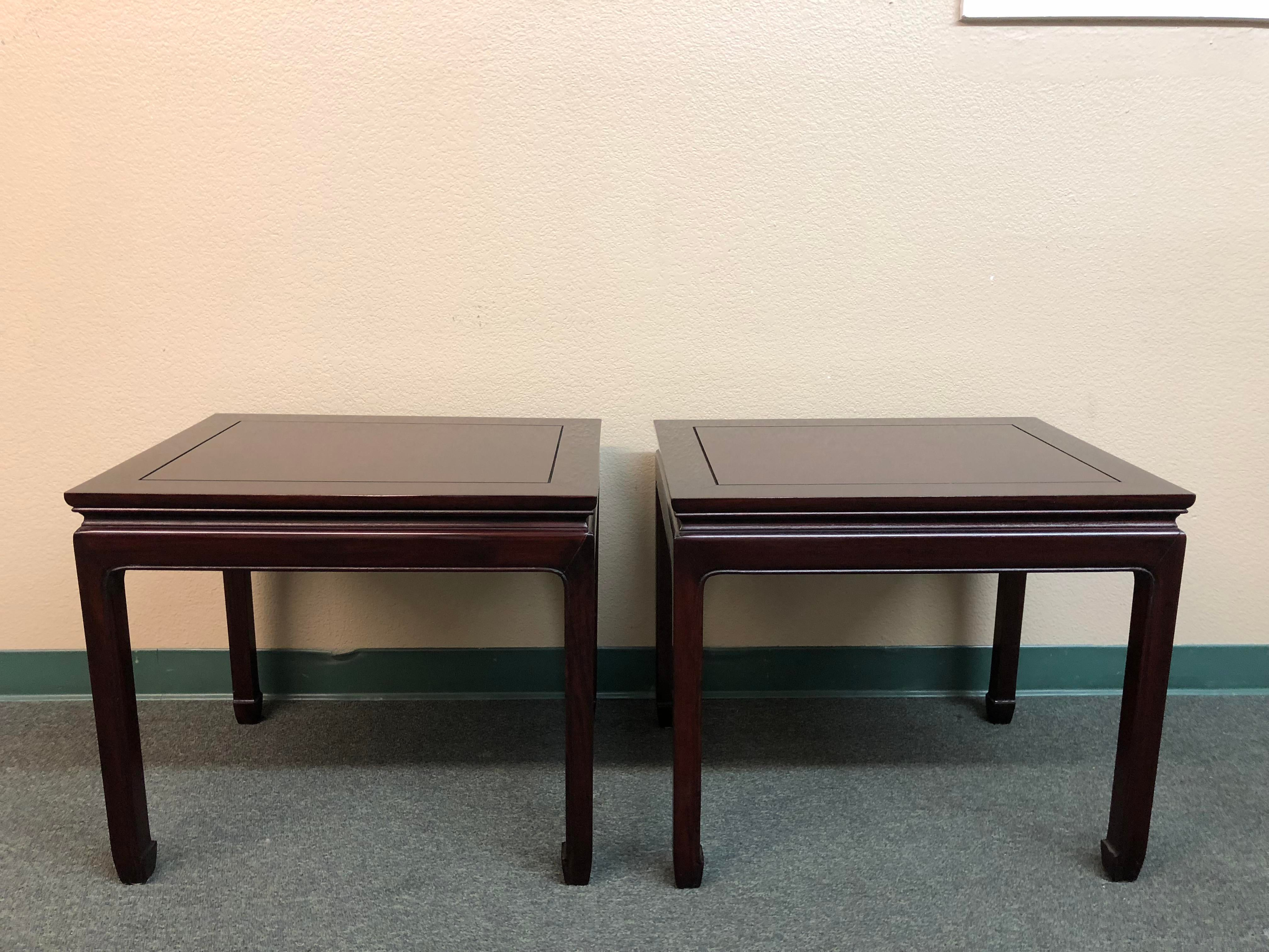 Asian Rosewood End Tables   A Pair   Image 9 Of 9