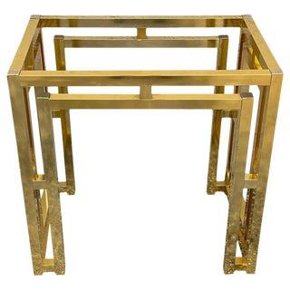 Milo Baughman Style Brass Table Base For Sale
