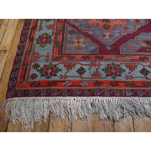Islamic Caucasian Sumak Carpet For Sale - Image 3 of 10