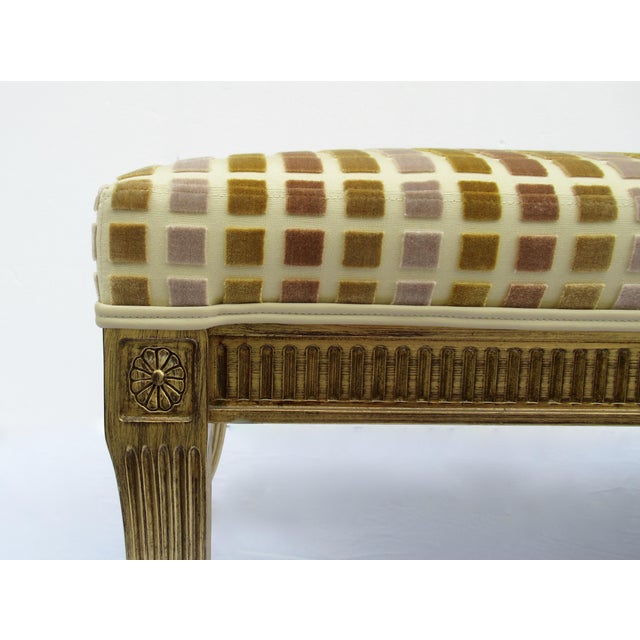 Animal Skin Gilt French Empire Style Interior Crafts Bench For Sale - Image 7 of 13