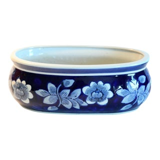 Blue & White Oblong Planter