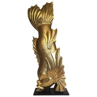 Venetian Giltwood Fish Sculpture