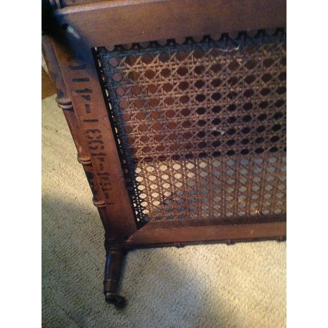 Brown Mid 20th Century Faux Wood Bamboo Table For Sale - Image 8 of 11