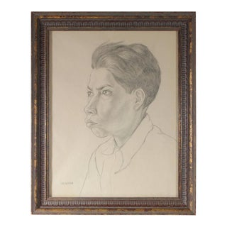 Gerald Wasserman Portrait of a Boy, Mexico 1947 For Sale