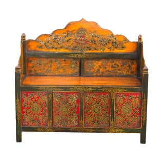 Late 20th Century Tibetan Bench For Sale