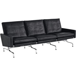 Poul Kjaerholm Pk31 Three Seat Sofa For Sale