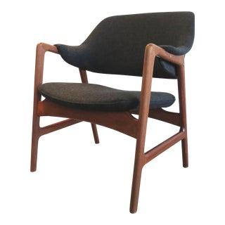 Vintage Mid Century Modern Teak Scandinavian Lounge Chair