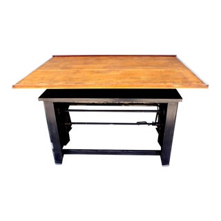 1950s Industrial Hamilton Drafting Table For Sale