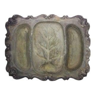 Heavy Silver Serving Platter For Sale