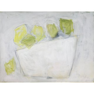 """Contemporary Abstract Still Life by Sarah Trundle, """"Lemons on White"""" For Sale"""