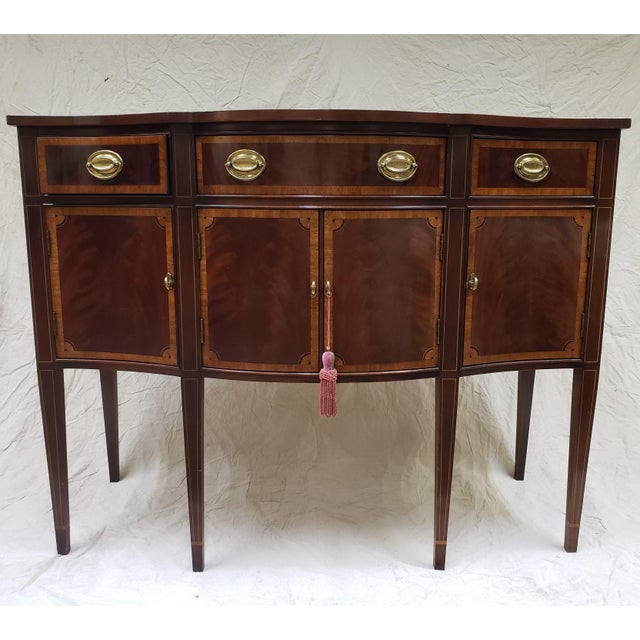 1980s Traditional Hickory American Masterpiece Collection Sideboard Server For Sale - Image 13 of 13