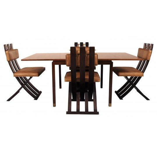 Rare & Outstanding Harvey Probber Games Table & Scissor Chairs For Sale - Image 11 of 11
