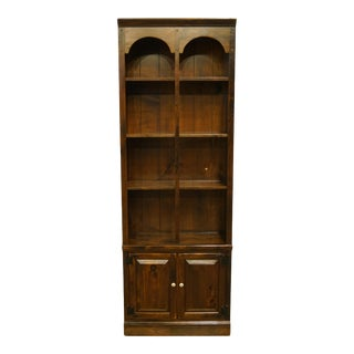 Ethan Allen Antiqued Pine Old Tavern Wall Unit/Bookcase For Sale