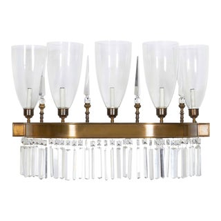 Crystal Demilune Wall Light For Sale