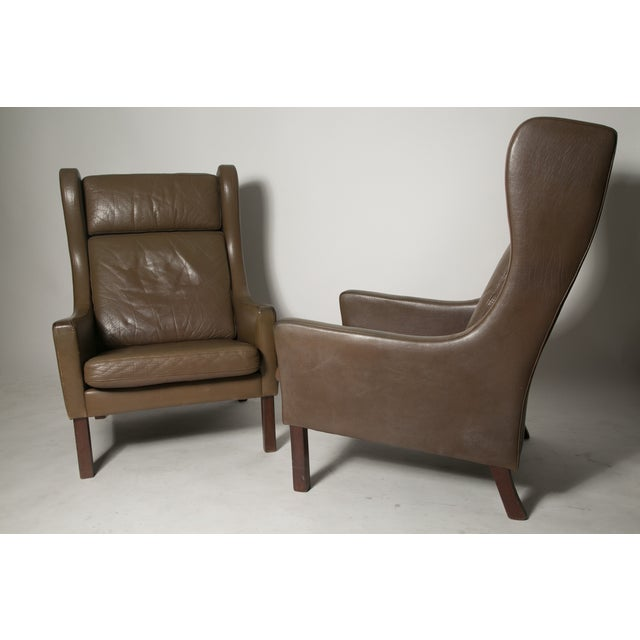 Borge Mogensen Wingback Chairs - Set of Two For Sale In New York - Image 6 of 7