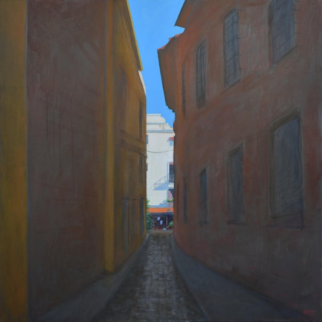 """Memory of Seville"" Large Contemporary Painting by Stephen Remick For Sale"