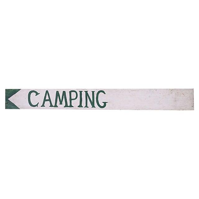 Vintage Camping Sign For Sale
