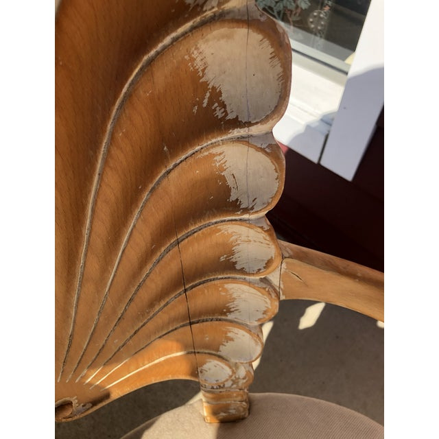 Wood Italian Seashell Chairs- a Pair For Sale - Image 7 of 9