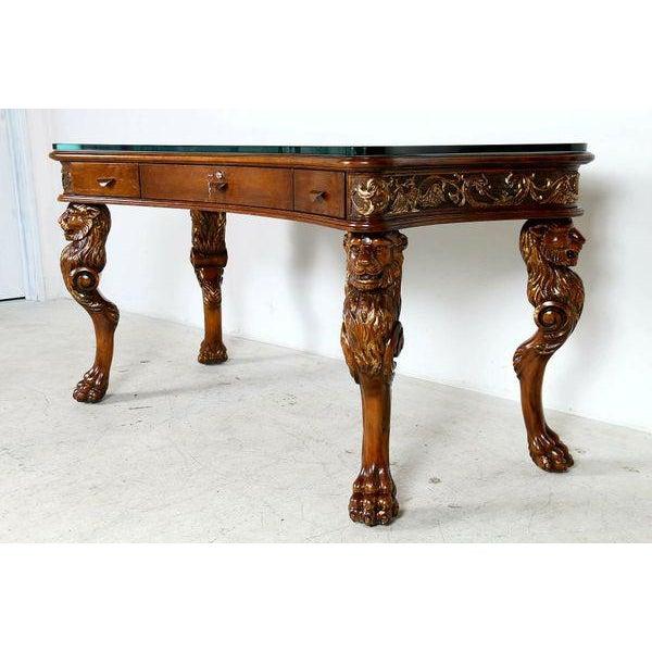 Medieval English Carved Wood Desk - Image 3 of 7